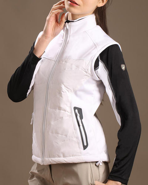 Stretch Tech Duck Down Filled Full Zip Vest