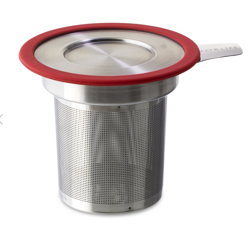 Brew-In-Mug Extra-fine Tea Infuser With Lid