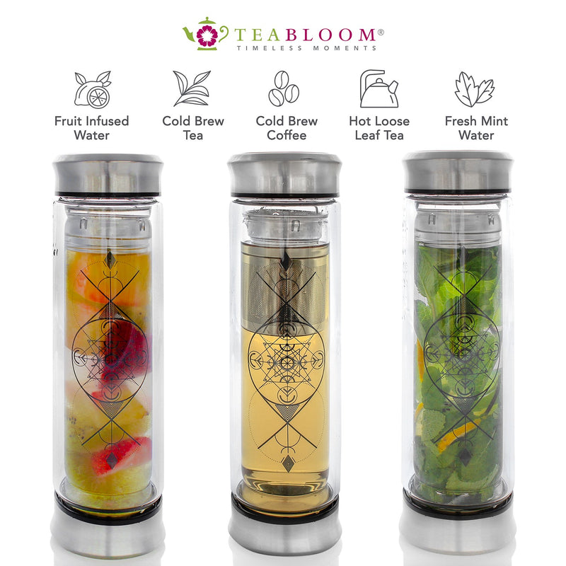 The Explorer Double Wall Insulated Glass Travel Tumbler 14 oz / 400 ml