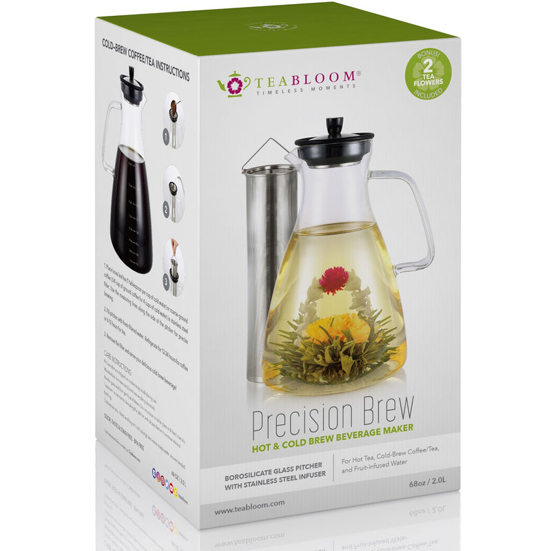 Precision Brew Beverage Maker - Extra Large All-Brew Glass Pitcher (68 oz / 2000 ml)