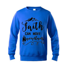 Load image into Gallery viewer, Faith Can Move Mountains Sweatshirt - Faith Based Fashion Hoodie