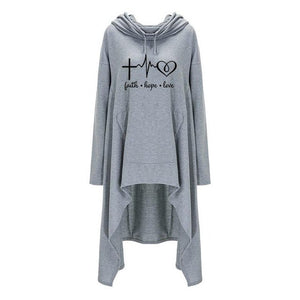 Oversized Cardigan Style Faith Hope Love Hoodie - Faith Based Fashion Hoodie