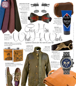 Charleston Magazine - Holiday Gift Guide 2014