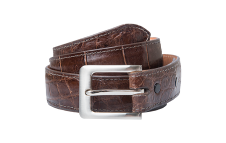 Coffee Alligator Belt Strap