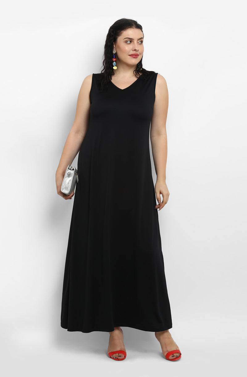 Black Maxi Dress by Afamado