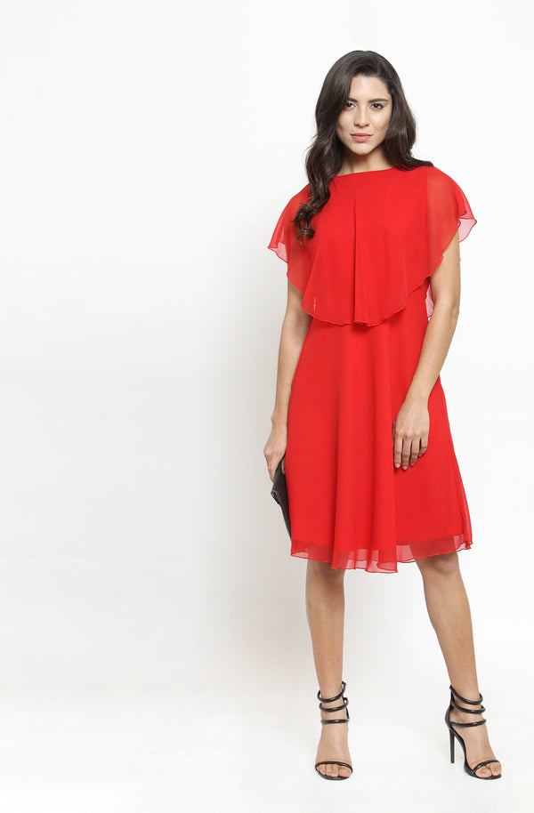 Back Bow Tie Overlay Dress by Afamado