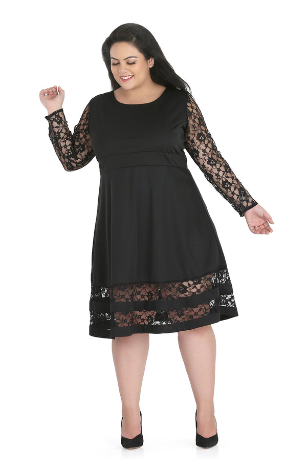 Fit and Flare Lace Dress by Afamado