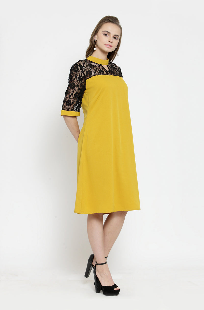 Flare Sleeves A-Line Dress