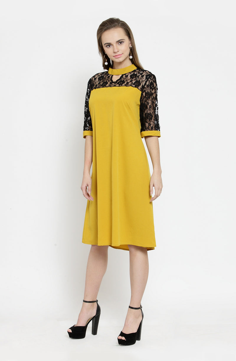 Flare Sleeves A Line Dress