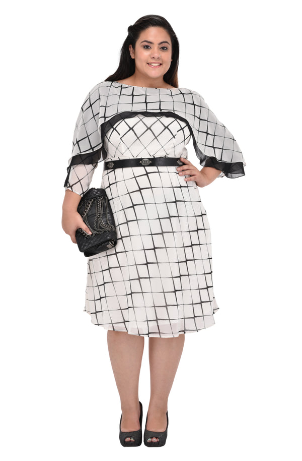 Checkered Ruffle Dress  by Afamado