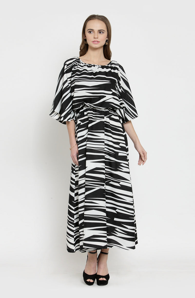 Maxi Dress with Cowl Neck
