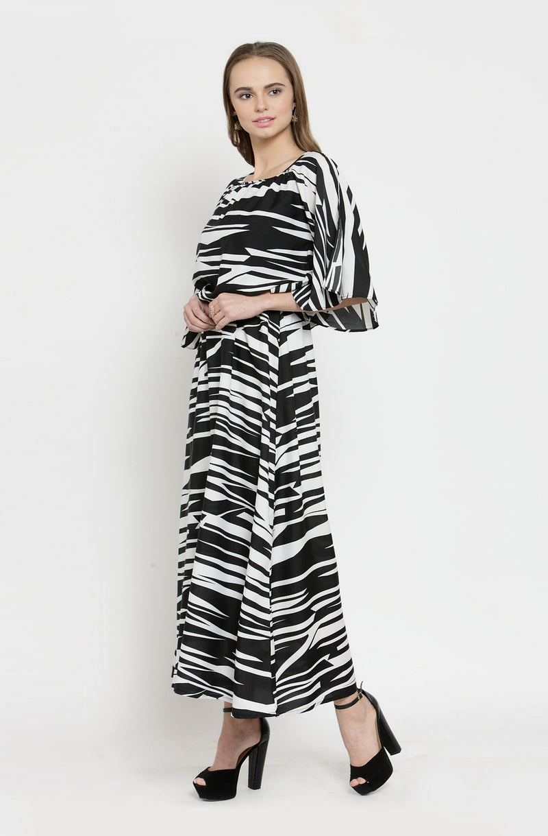 Maxi Dress with Cowl Neck by Afamado