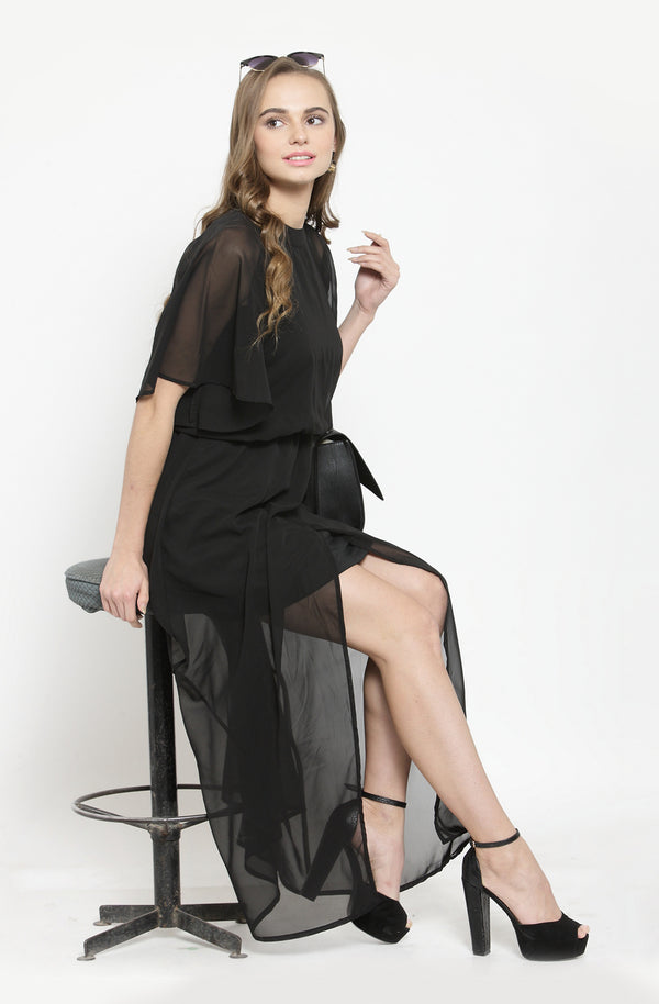 Sheer Black Maxi by Afamado