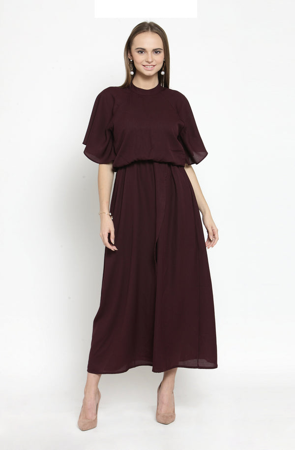 Formal Blouson Maxi Dress by Afamado