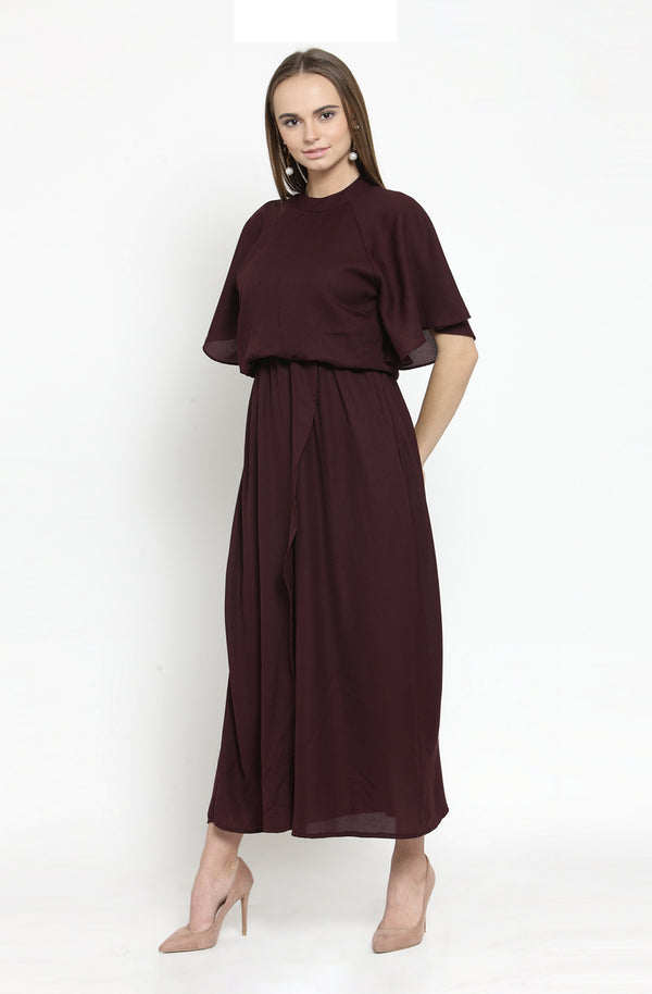 Formal Blouson Maxi Dress