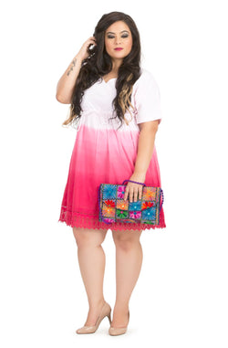 Ombre Drawstring Dress