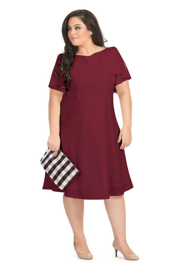 Ruffle Layered A-Line Party Dress