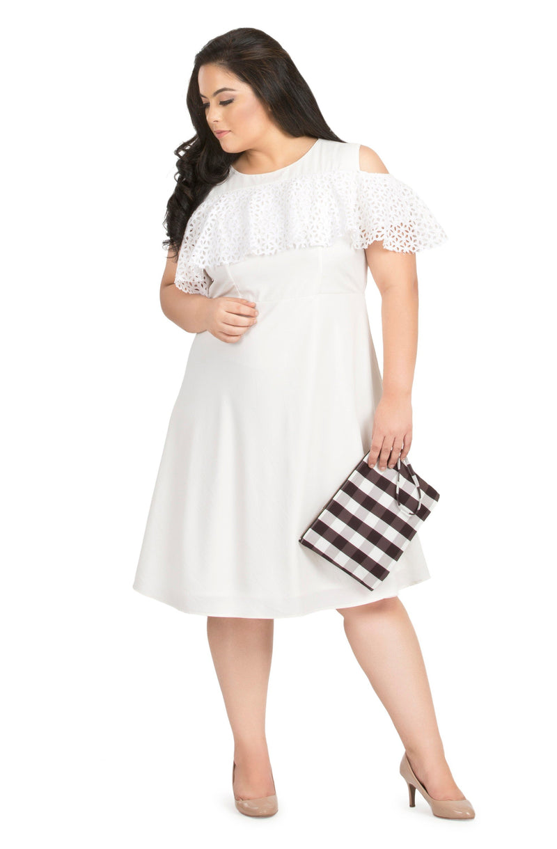 Schiffly Ruffle Dress by Afamado
