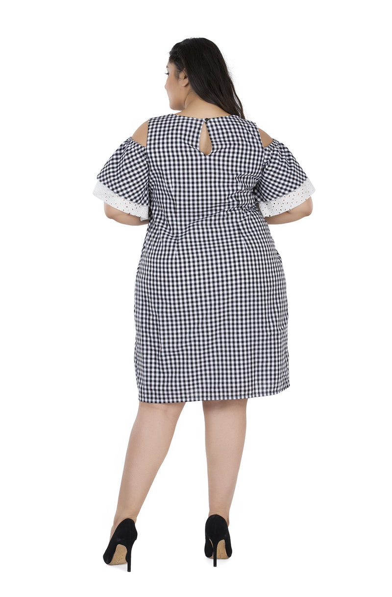 Gingham Layered Ruffle Dress