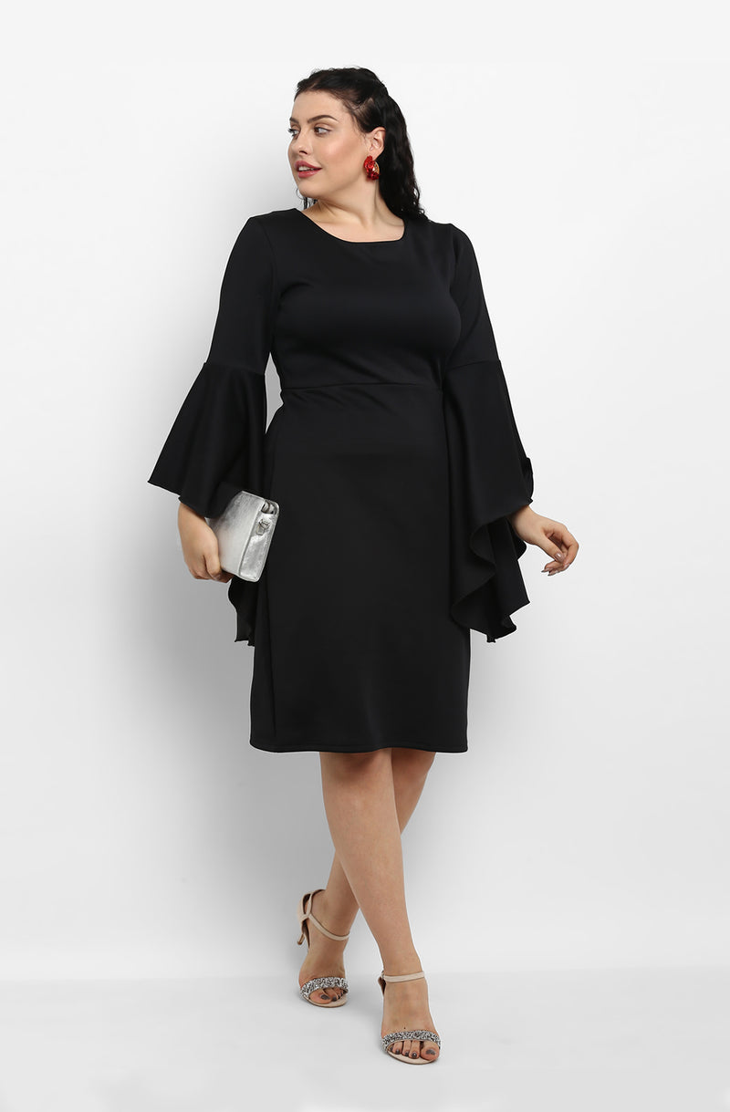 Flare Sleeve Dress by Afamado