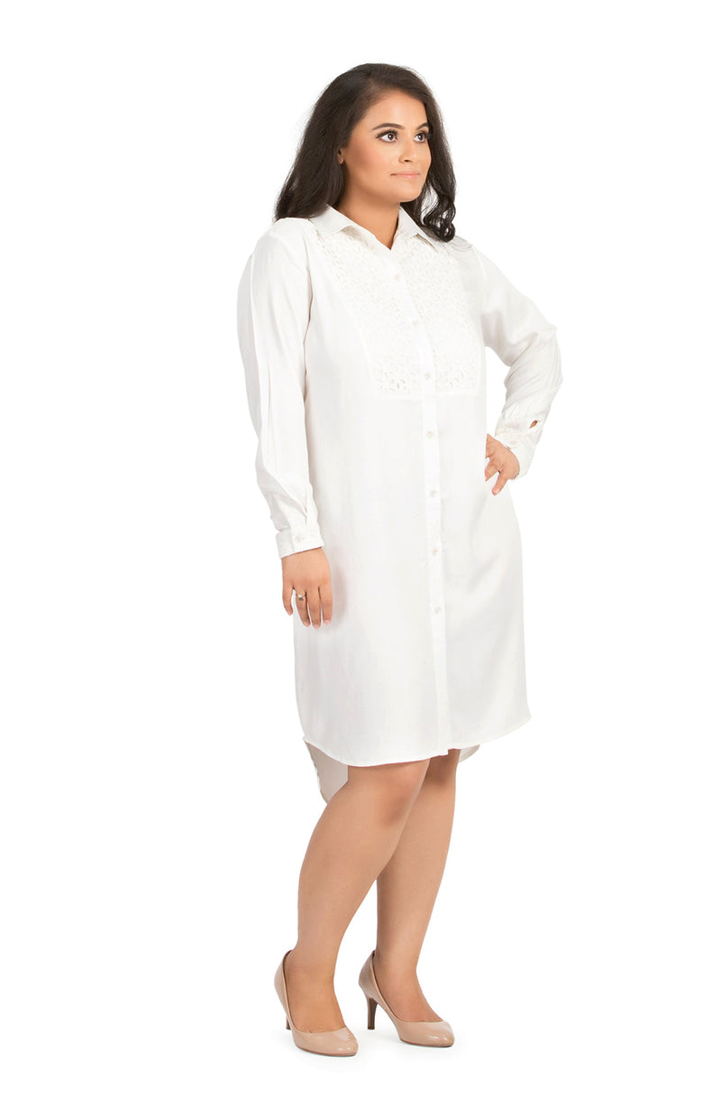 Yoke Shirt Dress