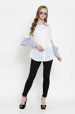 White Shirt With Long Sleeves by Afamado