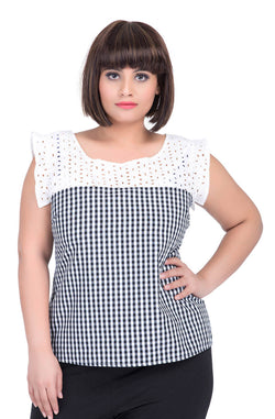 Gingham Top by Afamado