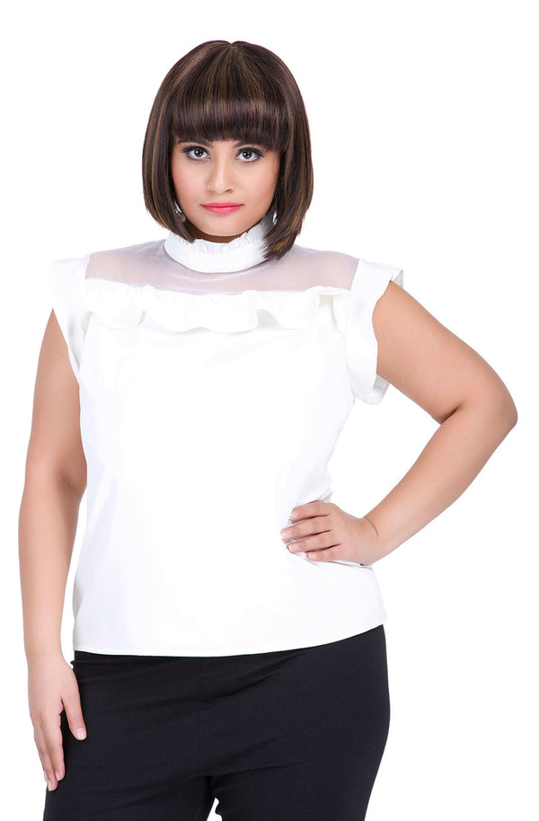 Organza Panel Top by Afamado