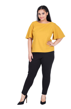 Flare Sleeve Top by Afamado