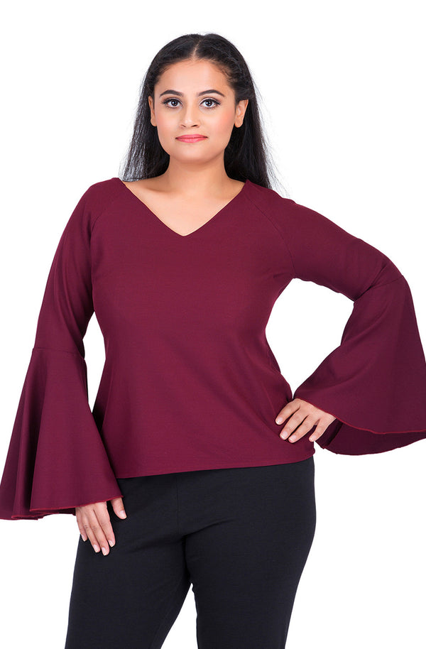 Full Sleeves Flare Top by Afamado