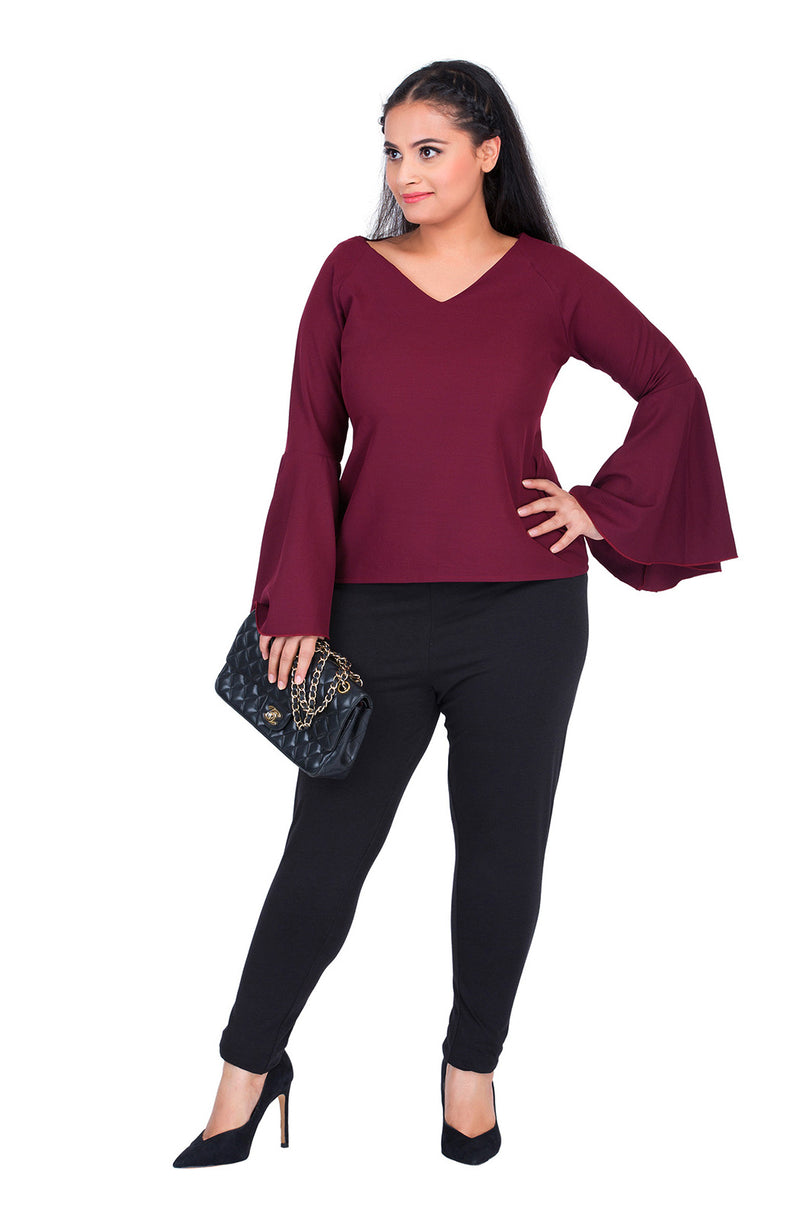 Full Sleeves Flare Top