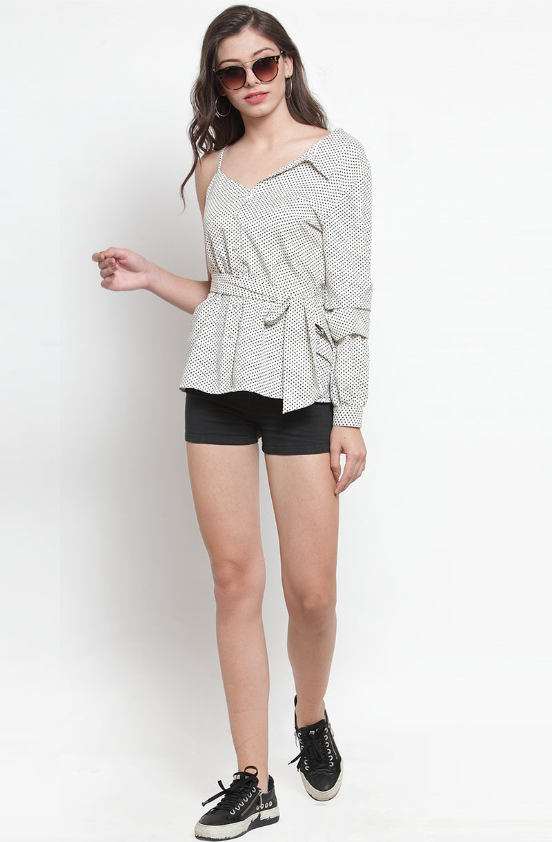 White Dotted Top by Afamado