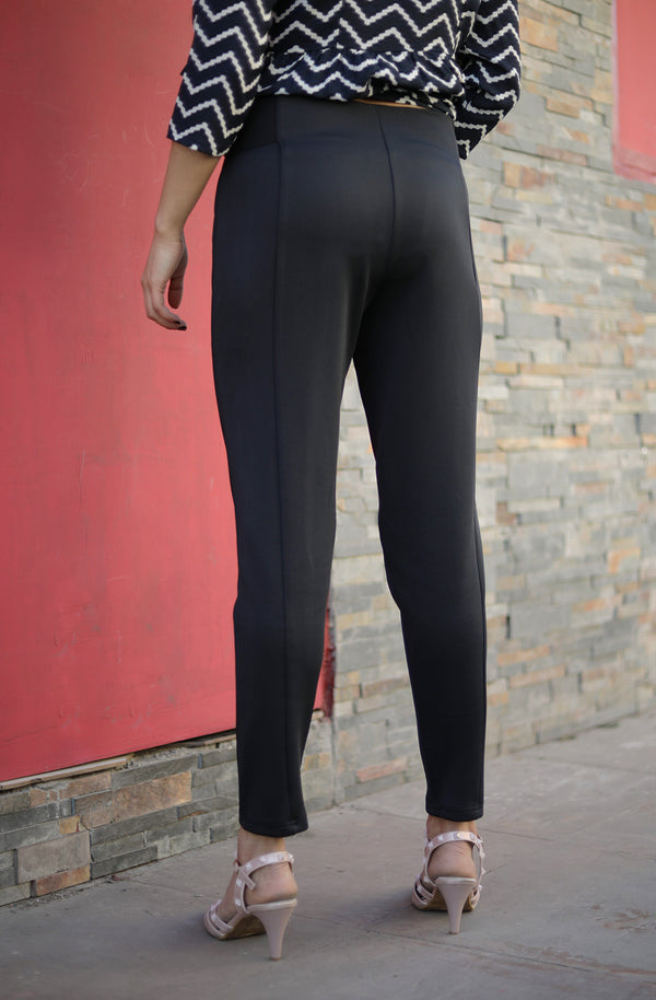 Solid Straight Black Color Pant