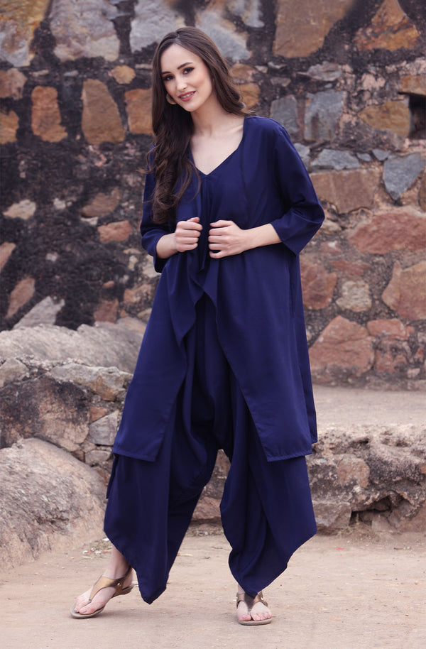 Dhoti Dress with Shrug  by Afamado