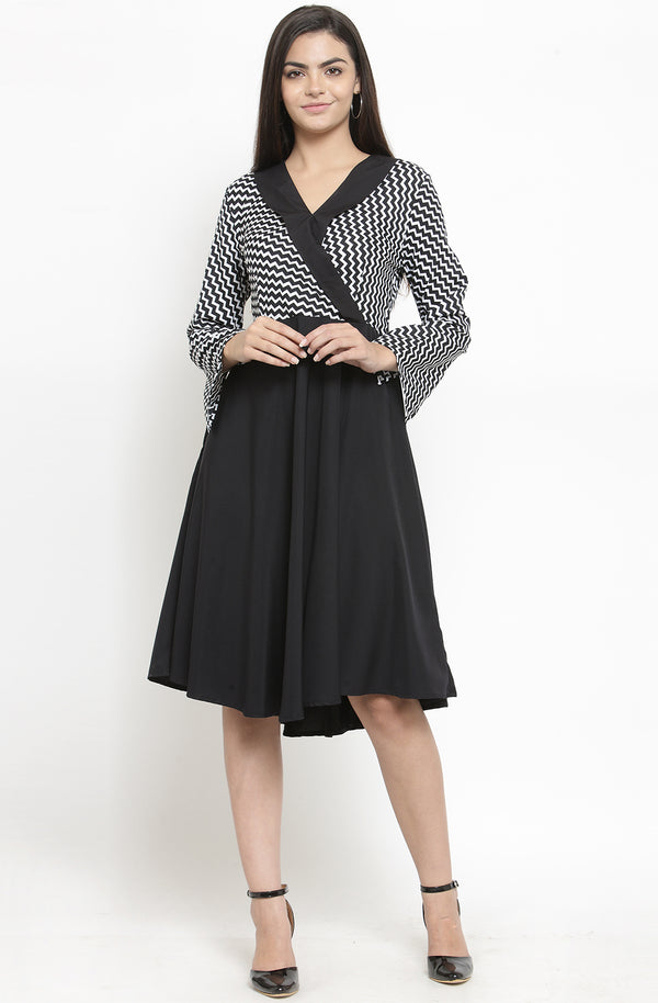 Monochrome Party Dress