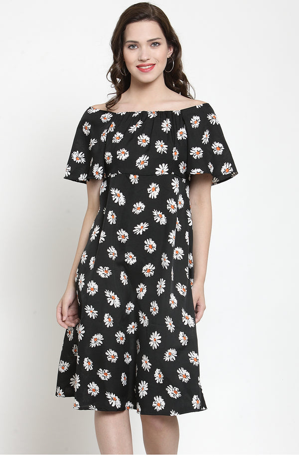 Fit & Flare Floral Print Dress