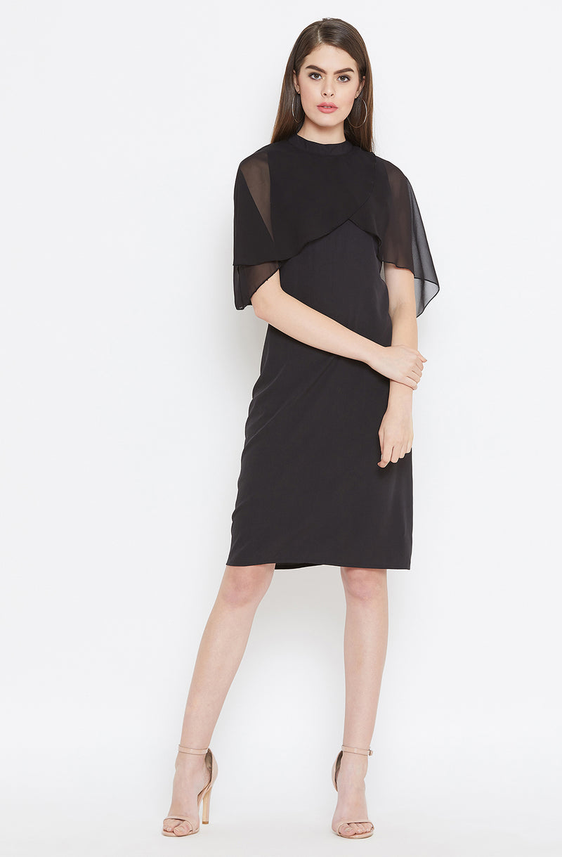 Bold Black A-Line Dress