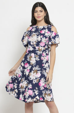 Bright Floral Dress by Afamado