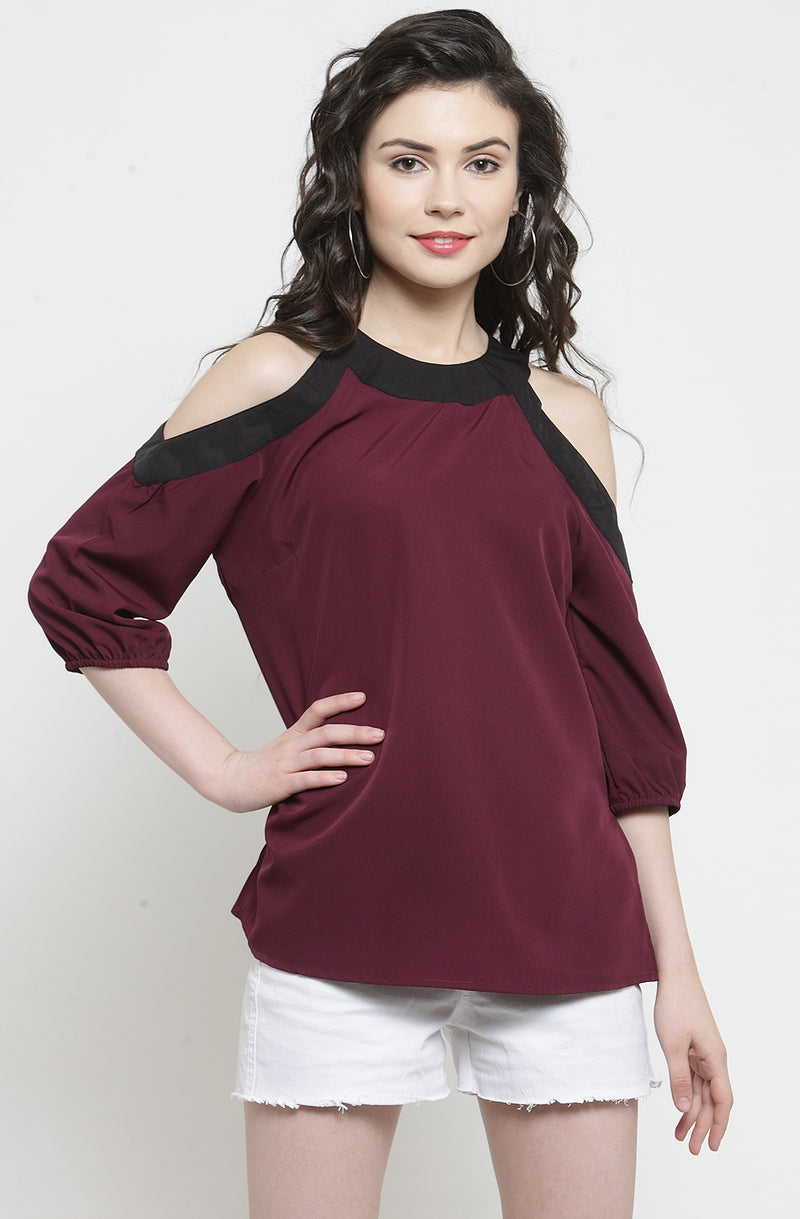 Wine Colored Top by Afamado