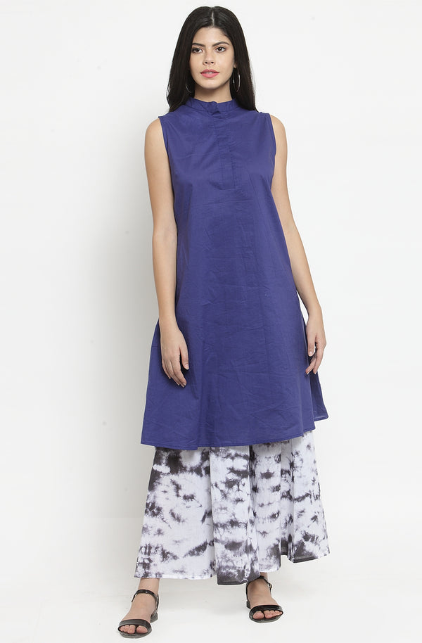 Indigo Tunic with Palazzo Set