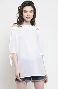 Tie Sleeve Top by Afamado