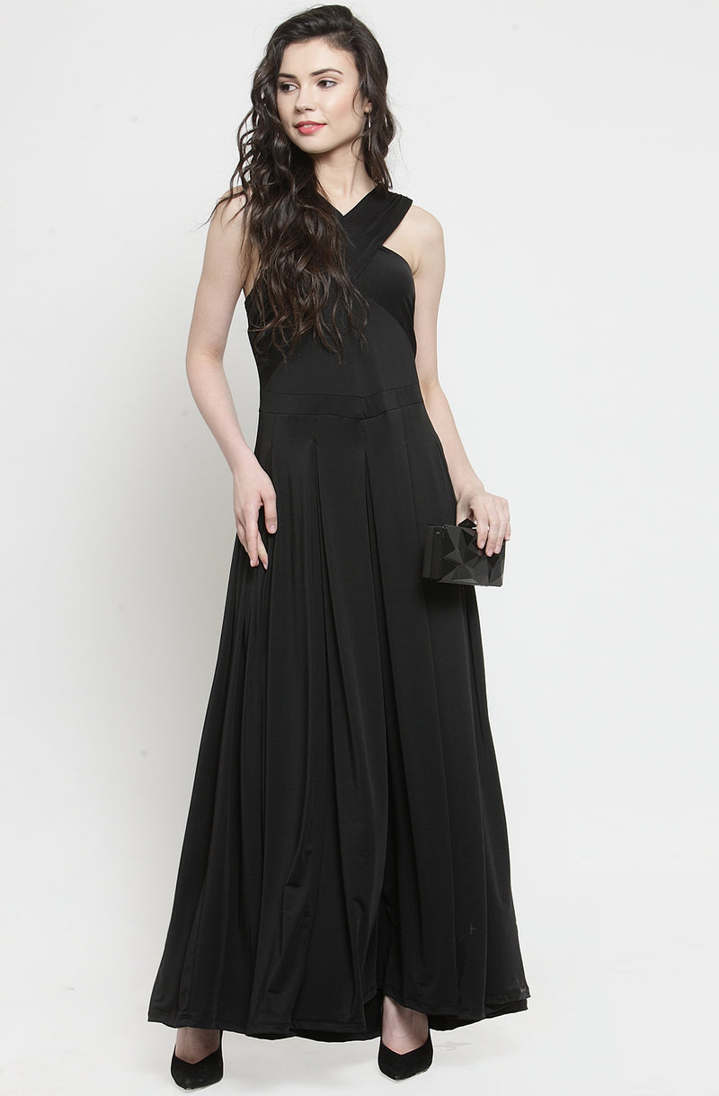 Cross Black Maxi Dress