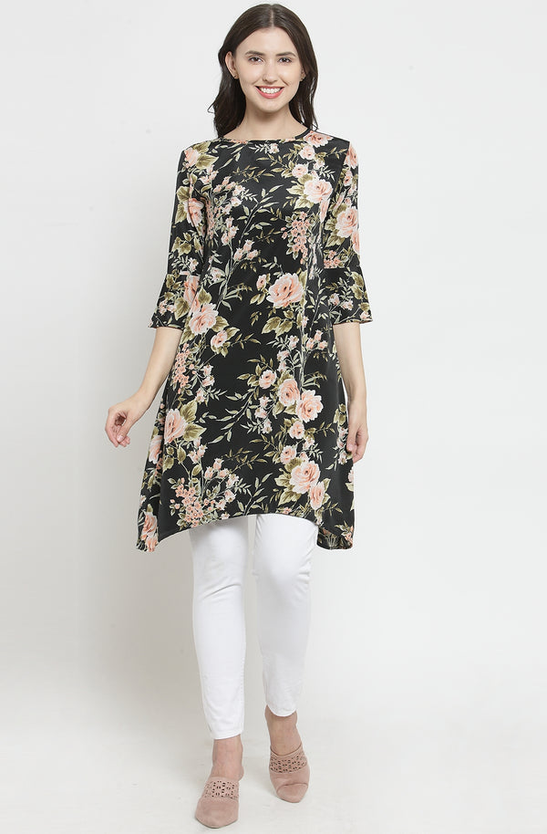 Hanky Hem Cotton Floral Tunic