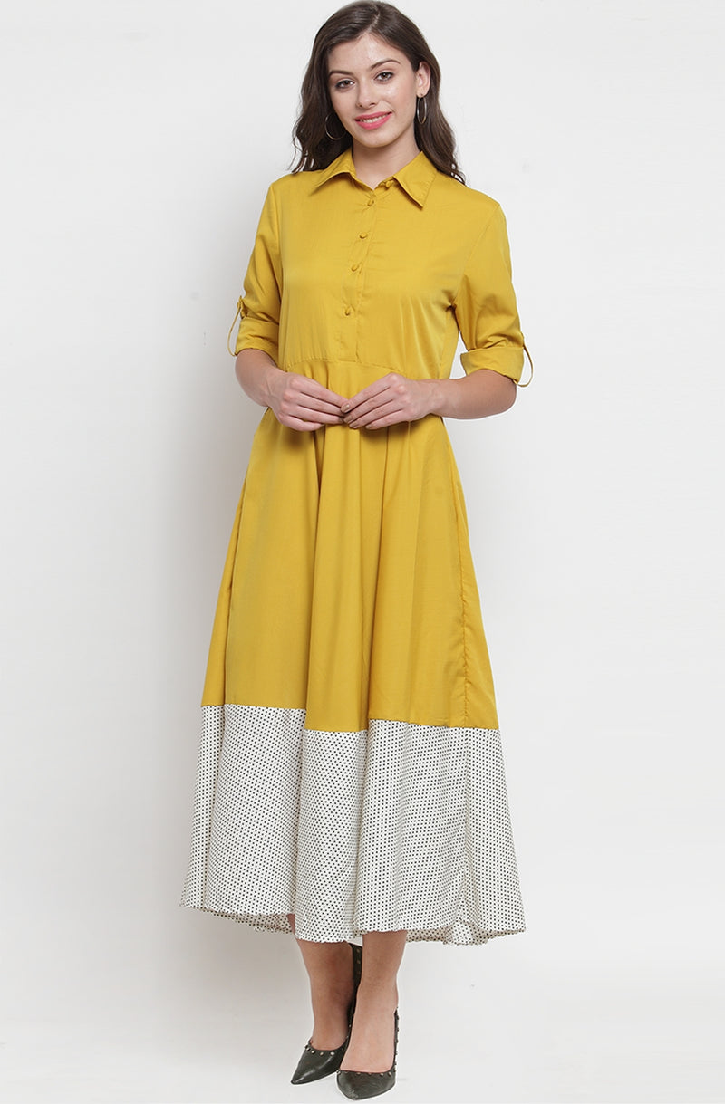 Yellow A-Line Maxi Dress