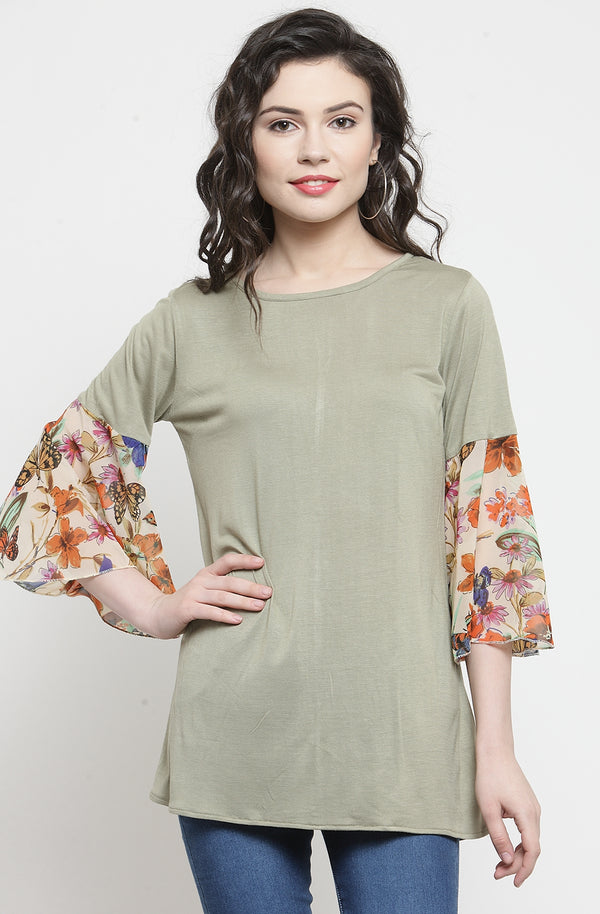 Women's Snuff Semi-Casual Top by Afamado