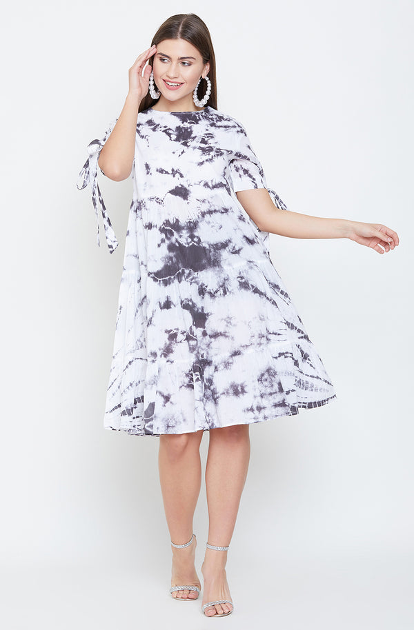Tie & Dye Tiered Dress