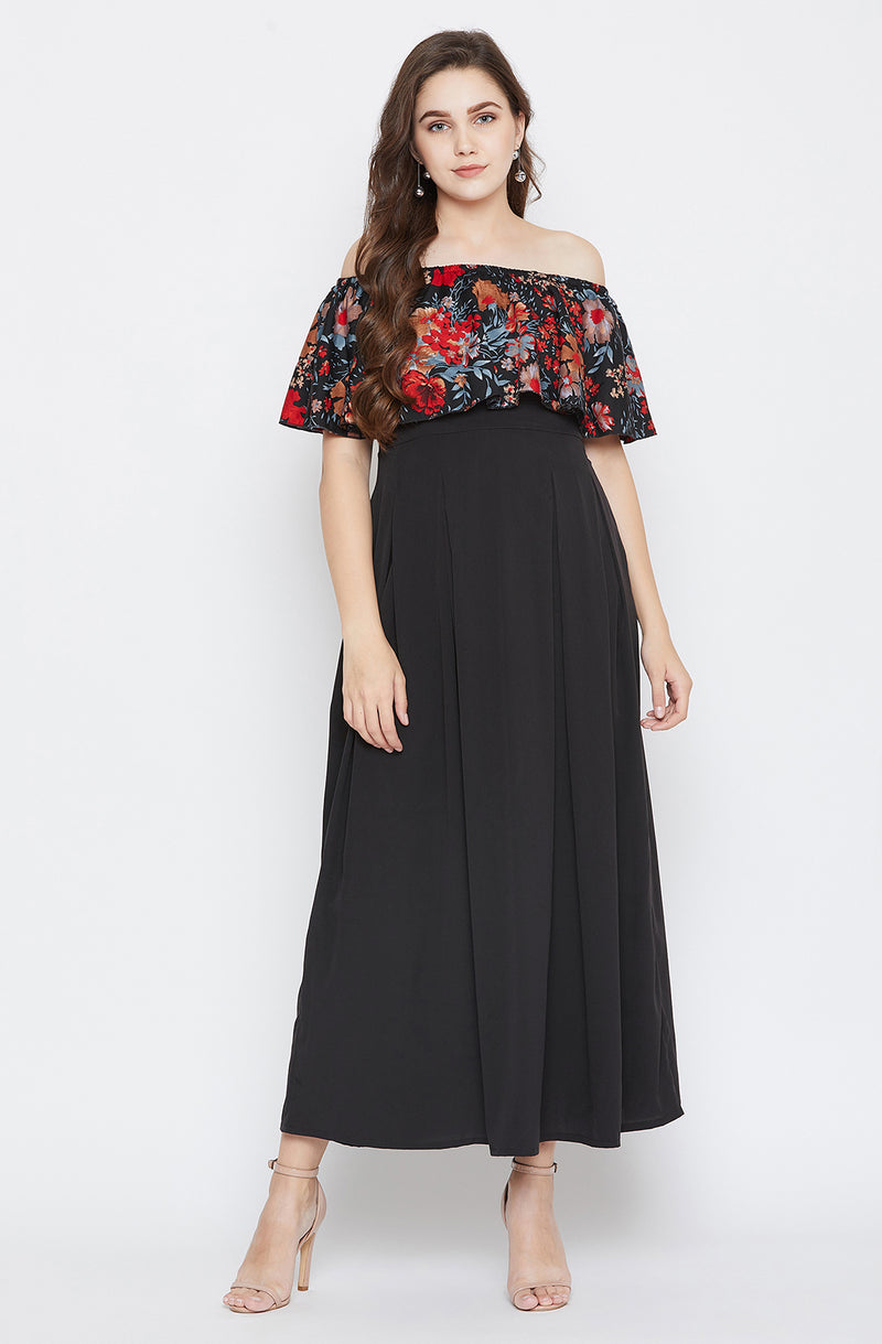 Off-Shoulder With Flare & Fitted Dress