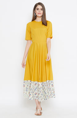 Classy Mustard Gown by Afamado
