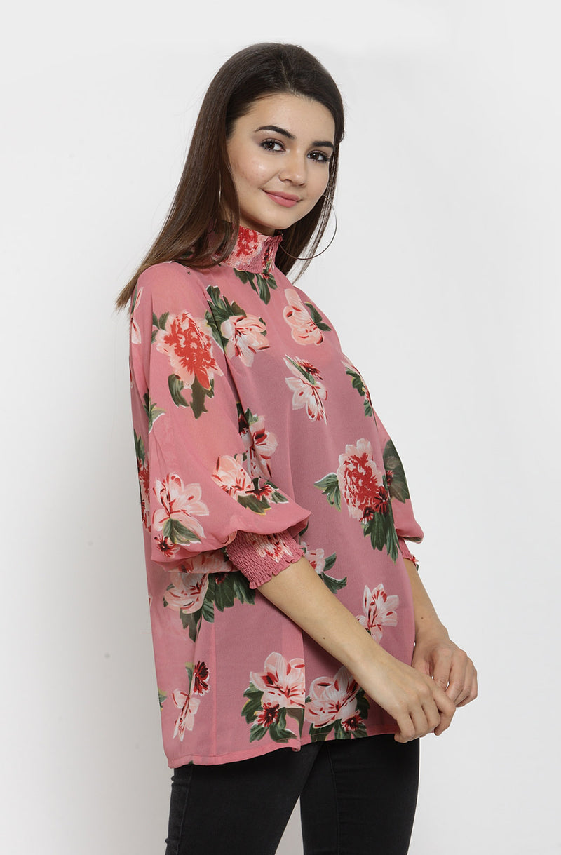Long Sleeves Printed Top by Afamado