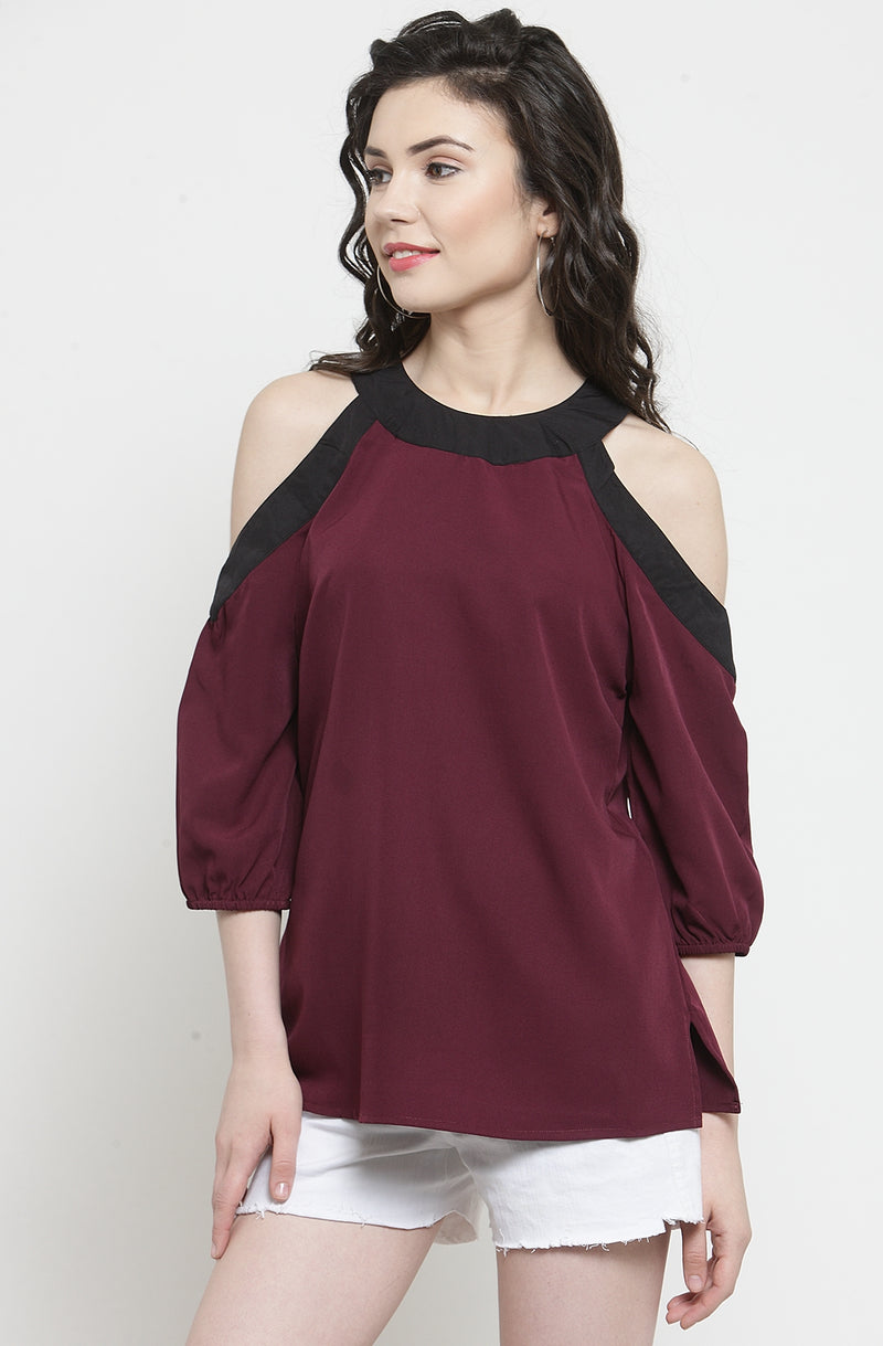 Wine Colored Top